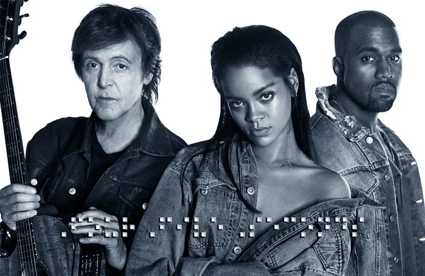 """Did you know Rihanna is a fan of braille? The cover for her single """"FourFiveSeconds"""" (with Kanye West and Paul McCartney) spells out the song title in braille, and her 2016 album """"Anti"""" features a poem written in braille."""