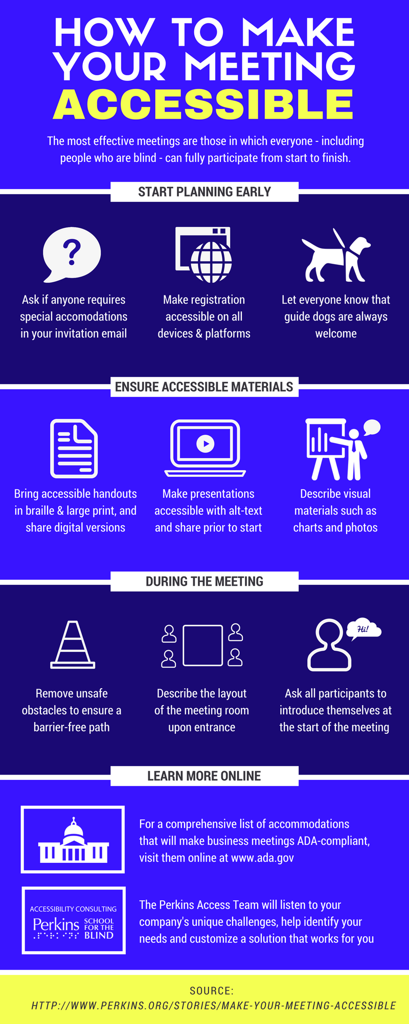How to Make Your Meeting Accessible Infographic