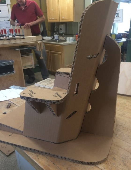 chair with support fin