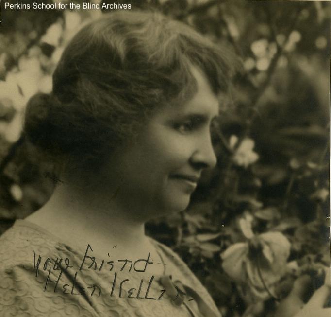 Helen Keller smiling
