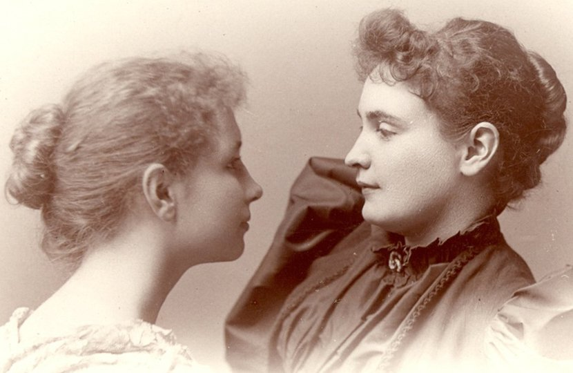 Anne Sullivan is best known for her role as Helen Keller's teacher and friend. However, she led a fascinating life, full of heartbreaking lows (being sent to an overcrowded home for the destitute as a child) and remarkable highs (making friends with Mark Twain and Charlie Chaplin). Sullivan (right) is shown in this 1896 photo with a 16-year-old Keller.