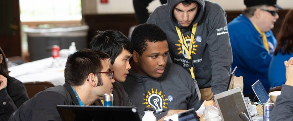 More than 100 college students from around the country participated in Perkins' first-ever hackathon.