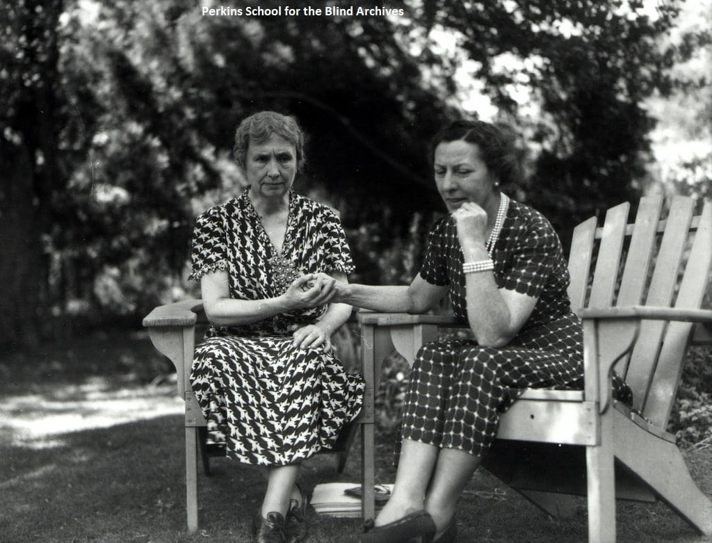 Polly Thomson, right, spent 46 years as Helen Keller's companion and interpreter.