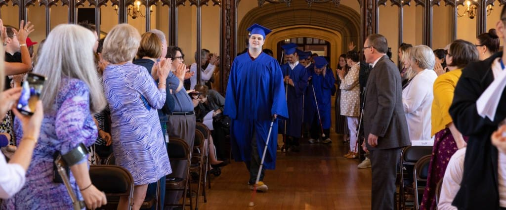 Twelve students graduated on Friday from Perkins School for the Blind's Secondary and Deafblind Programs.