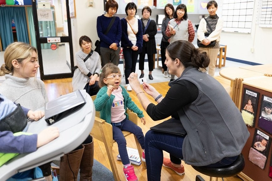 This past March, educators from Yokohama visited Perkins for a week of classroom observation.