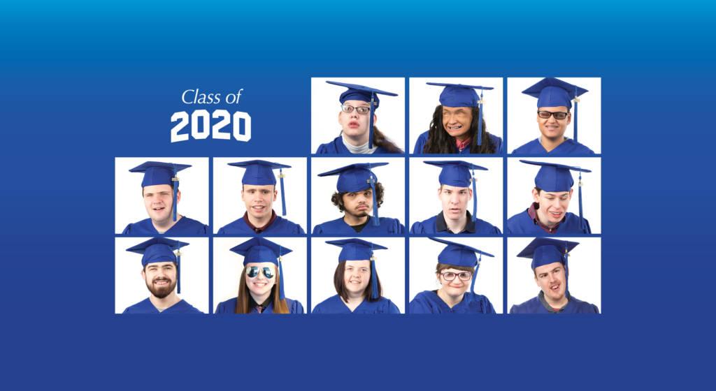 Senior portraits of the 13 graduates of Perkins class of 2020