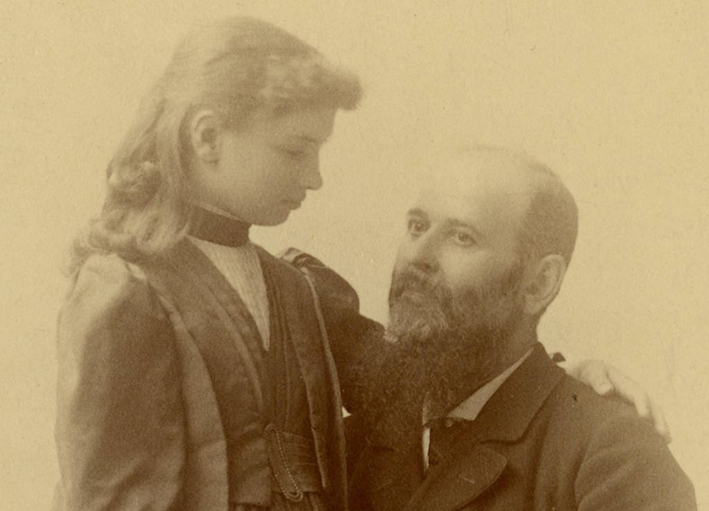 Helen Keller and Michael Anagnos in 1891