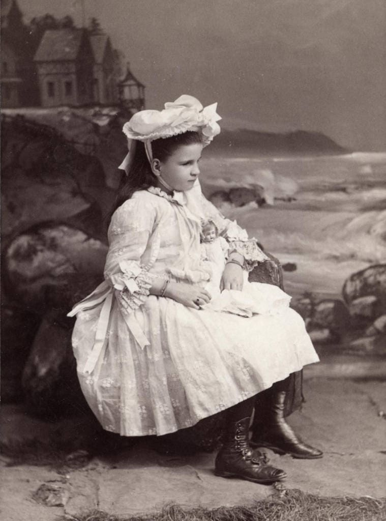 Studio portrait of student Edith Thomas, circa 1880s.