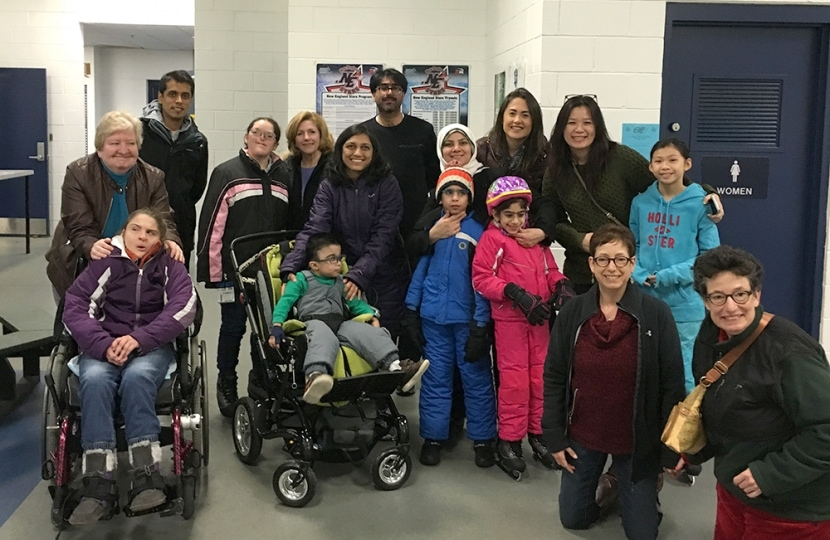 Kids and parents at an NEC event