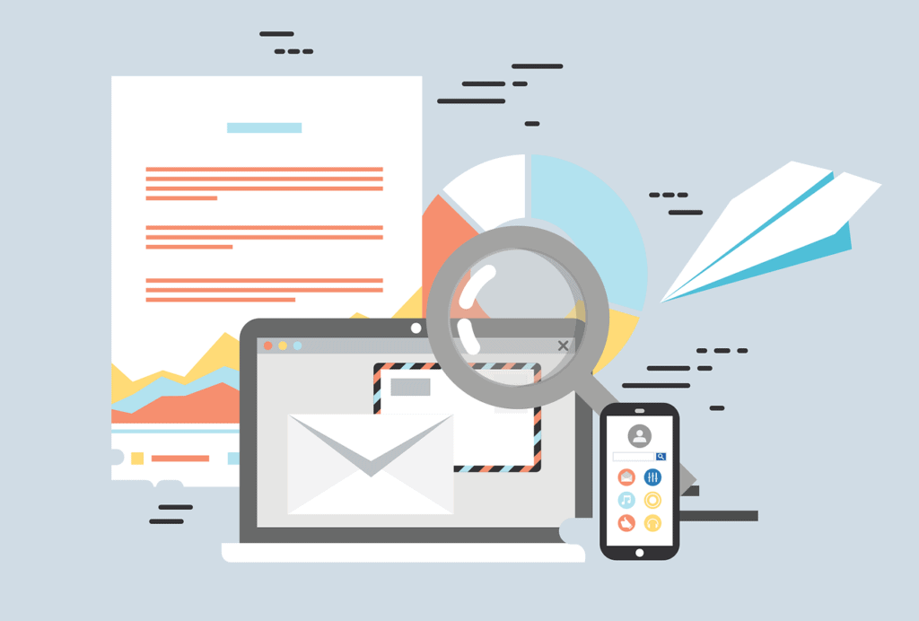 technology and email illustration
